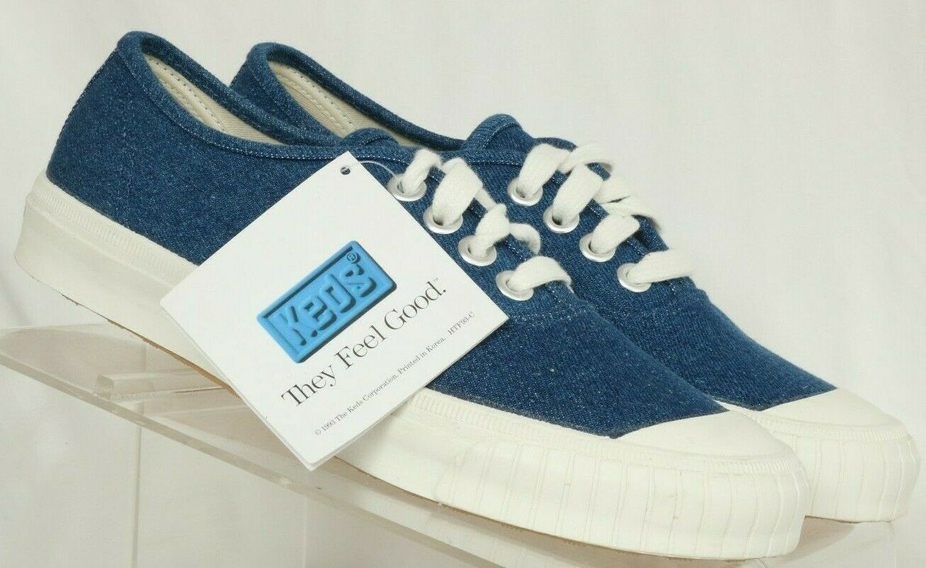 KEDS New Canvas WF-4402M bluee 90's Casual Lace Up Sneakers Women's US 8.5