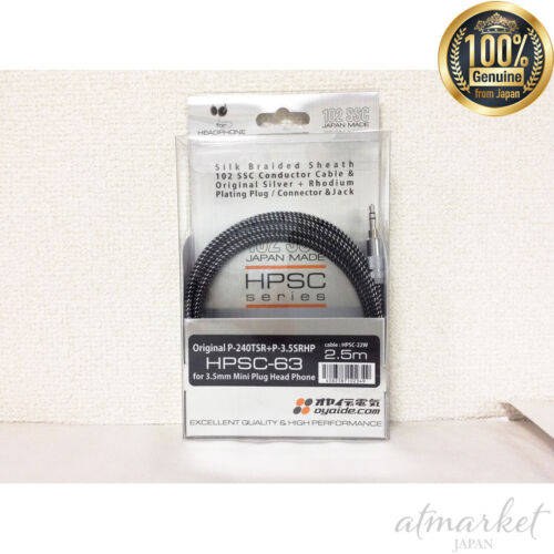 Oyaide HPSC-63 6.3mm to 3.5mm Headphone Cable 2.5m New F//S from Japan