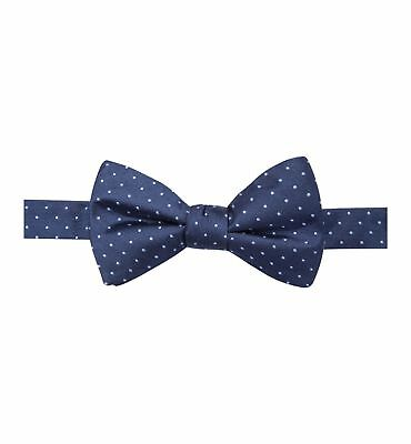 $130 Ryan Seacrest Men Navy Blue Polka Dot Bowtie Adjustable Classic Bow Tie