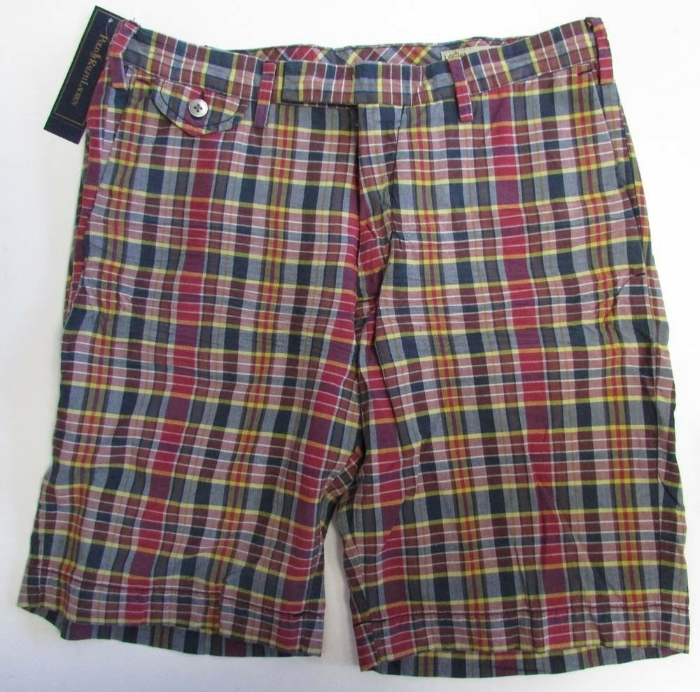 NWT POLO Ralph Lauren India Madras Shorts Suffield Fit  Size 29