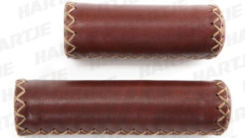 0318.604//6 CONTEC Griff Classic Exclusiv Geebee Fahrradgriffe Leder Paar gravy
