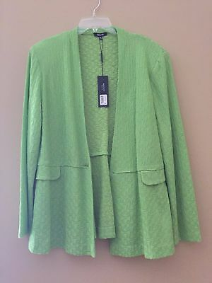 Misook BGL Green Textured Jacket $528 XL (Missing the front button)
