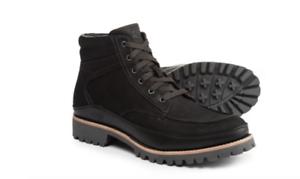 Nuevo CHACO YONDER Negro Cuero Impermeable botas Hombres 10 MSRP