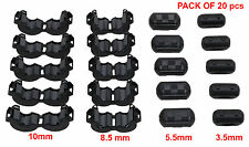 NEW 20 Peices Clip-on Ferrite Ring Core RFI EMI Noise Suppressor Snap Cable Clip