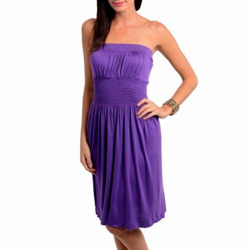 New Gray Blue Purple Mini Strapless Beach Party Club Cocktail Casual Dress S M L