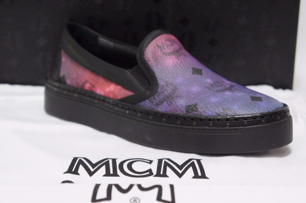 MCM GALAXY LEATHER SLIP ON LOAFER SNEAKER SHOES 36/6 $575