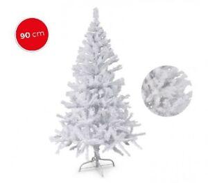 Albero Di Natale Bianco 90 Cm.Dettagli Su Albero Di Natale Artificiale Bianco Natale 90 Punte 90 Cm Abete Shabby
