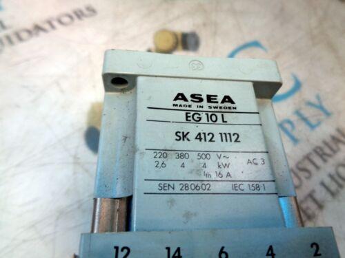 ASEA EG 10 L SK 412 1112 24 VDC CONTACTOR