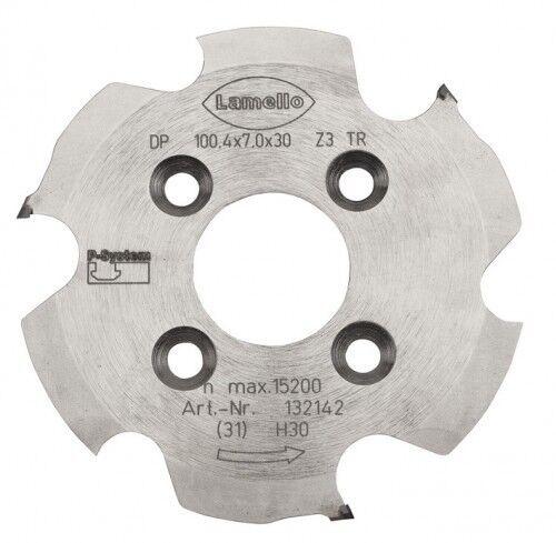 Lamello P-System Nutfräser. Ø 100.4 x7x30 mm (Diamant)   132142