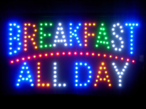 Breakfast All Day Cafe Coffee Led Light Sign