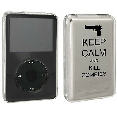For Apple iPod Classic Hard Case Cover 80 120 160gb Keep Calm and Kill Zombies