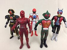 Bandai Ultraman Kamen Masked Rider Kaiju Monster Vinyl Action Figure Lot Of 5