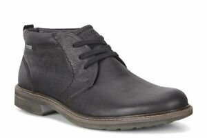 Ecco Turn Black Gore-Tex Men's Water Proof Leather Lace Up Chukker Boots UK 10