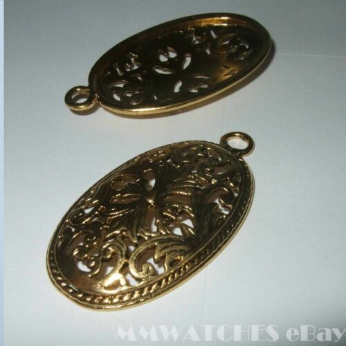 NEW OVAL SILVER GOLD BRONZE CAMEO CABOCHON PENDANT SETTING TRAY 36mm x 22mm C22