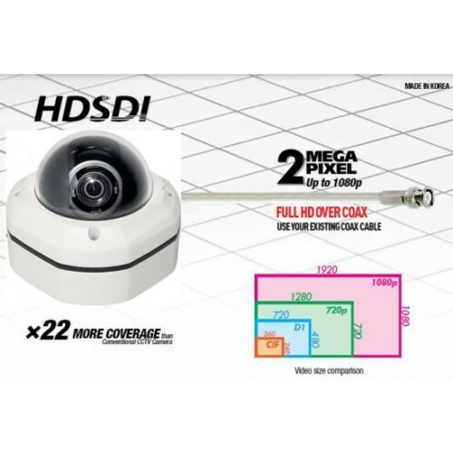 Eyemax HD-SDI outdoor dome security camera IP68 vandal-proof 1080p 2 megapixel