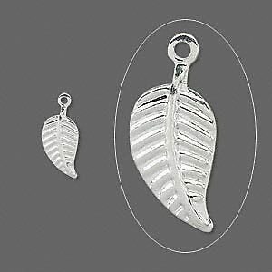 96 Silver Plated Leaf Charms~Leaves~Silvertone Drops