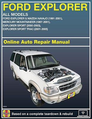 2001 Ford Mustang Haynes Online Repair Manual-Select Access