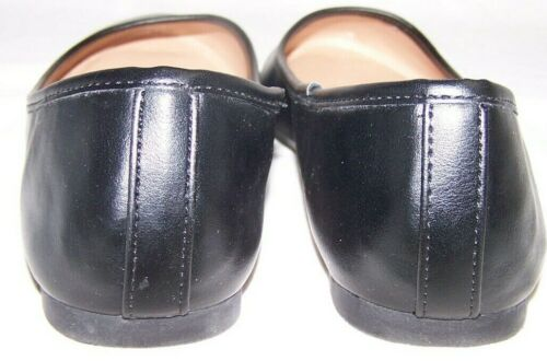 Black Shoes by Universal Thread Everly Faux Leather Round Toe Ballet Flats