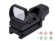 Tactical Holographic Reflex 4 Reticles Red/Green Dot Sight Scope Laser Mount Gun