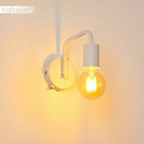 Flur Strahler Wand Lampen Schalter Vintage Schlaf Wohn Zimmer Beleuchtung weiß