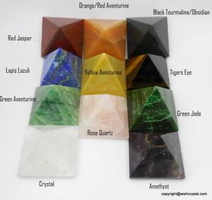 Red Aventurine Healing Crystal Big 50mm Natural Stone Pyramid Reiki Crystal
