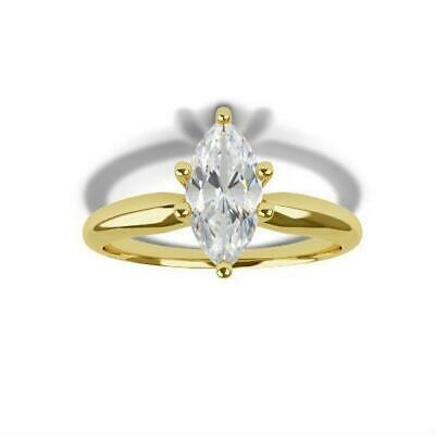 Diamond Straightforward Lady 1 1/2 Ct 8 Prongs Diamond Marquise Ring 18k Yellow Gold Modern Solitaire High Quality And Low Overhead Fine Jewelry