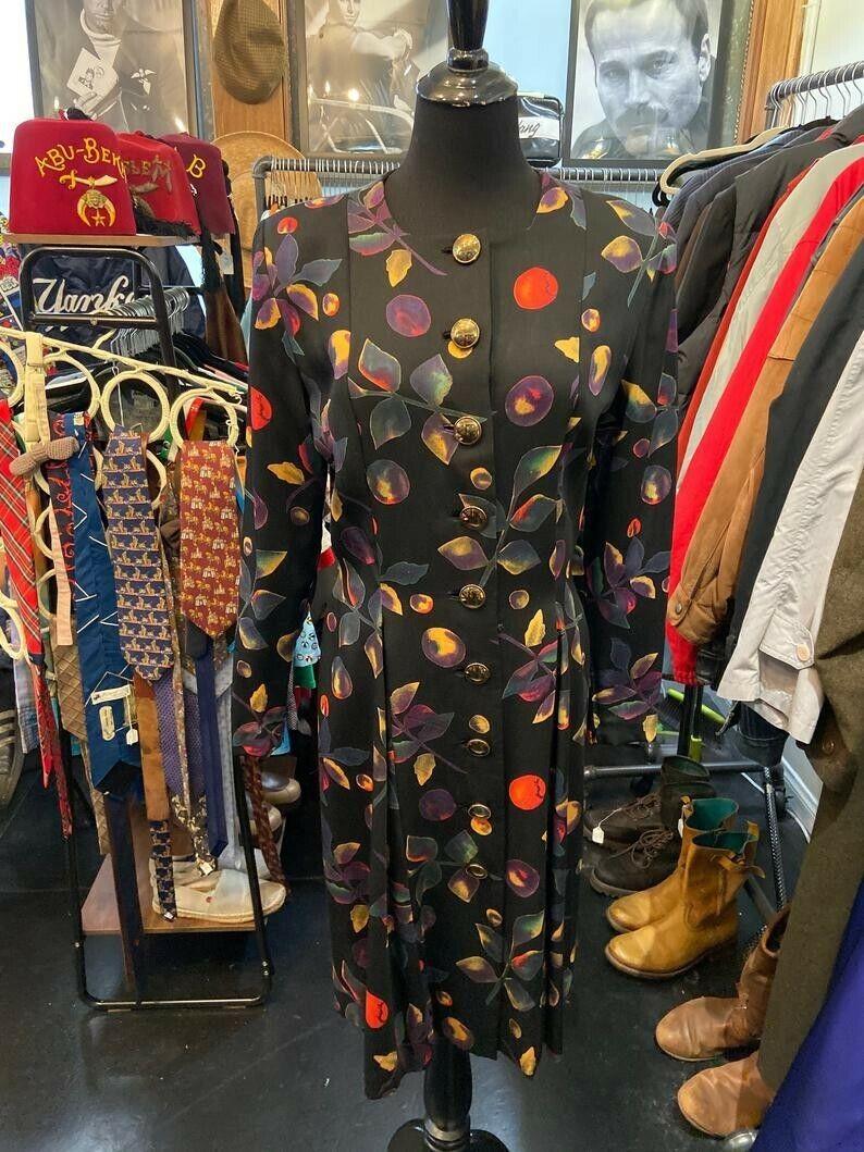 Gorgeous Rare Pauline Trigere 1970s/80s Dress wit… - image 1