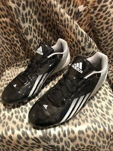 ADIDAS G23700 MEN S BLACK WHITE SILVER FOOTBALL CLEATS SIZE 10.5  98a749dd8