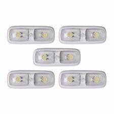 5 RV LED 12v FIXTURE DOUBLE DOME LIGHT 4200K NATURAL WHITE CAMPER TRAILER MARINE