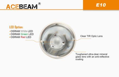 Acebeam e10 EDC Thrower lampe de poche rouge vert ou blanc DEL