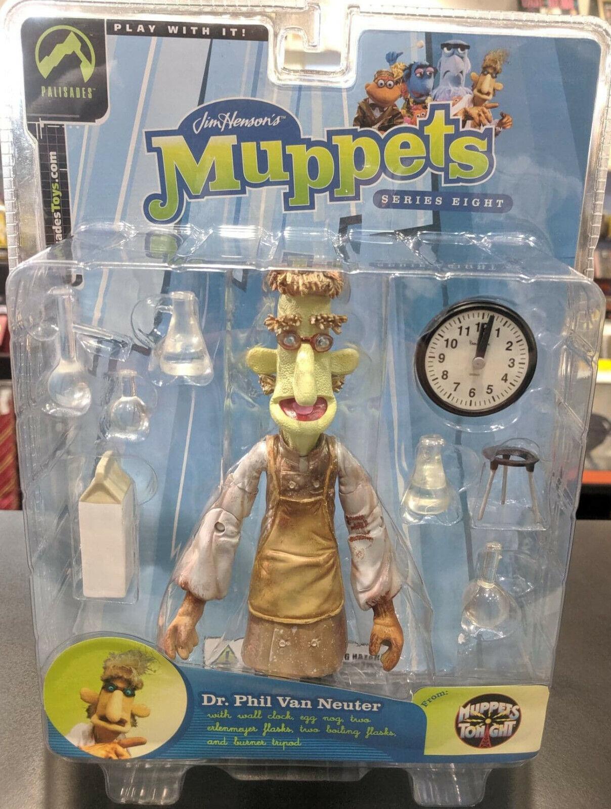 MUPPETS Palisades DR PHIL VAN NEUTER Action Figur Series 8 MUPPETS TONGEN