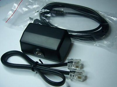 3.5mm JACK LEAD TELEPHONE RECORD INTERFACE ADAPTER for RECORDING to MP3//PVR//DVR