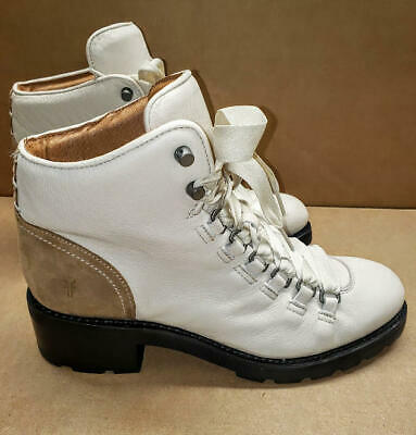Frye Women S Alta Hiker Combat Boot Off Off White 9 M Us 398 Ebay