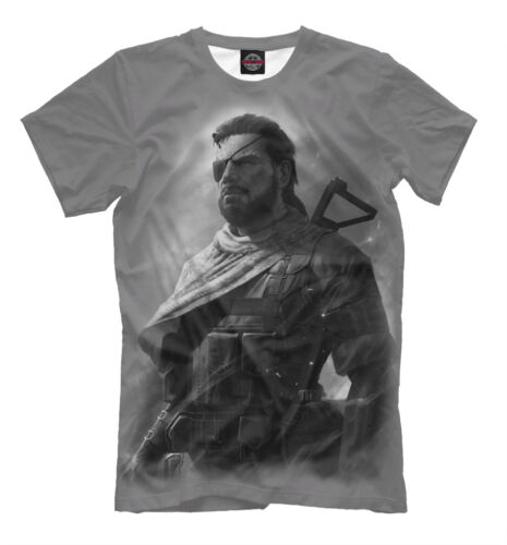 Solid Snake T-Shirt-Gamers vêtements tee-shirt Harley Davidson Imprimé Grandes Tailles Metal Gear Gris