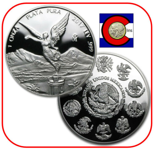 only 8,650 minted 2017 Mexico 1 oz Silver Proof Libertad Coin