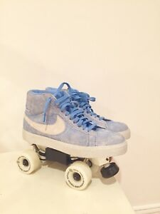 concepto Animado Posible  Nike Roller Skates Custom Size 9 Nike SB Blazer Mid | eBay