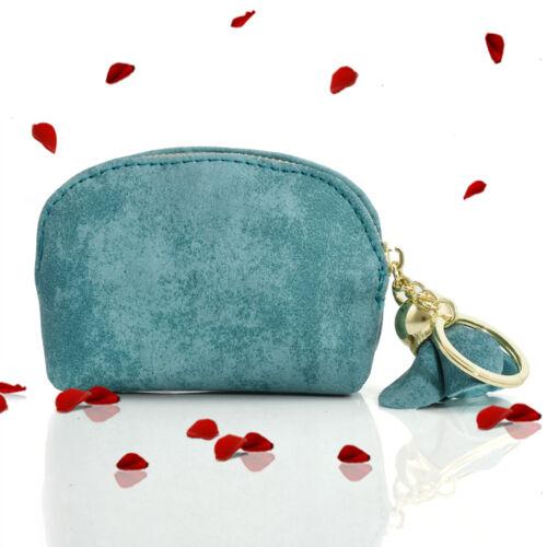 Fashion Girls PU Leather Mini Wallet Card Key Holder Zip Coin Purse Clutch Bag