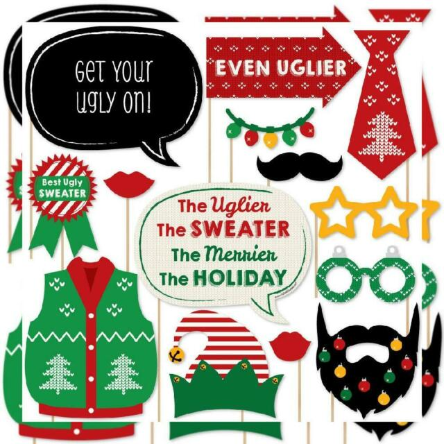 12 Count Big Dot of Happiness Ugly Sweater Holiday /& Christmas Party Gift Bag