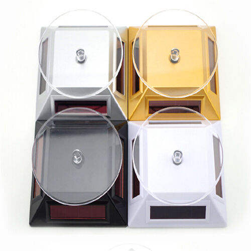 Solar Power Rotating Jewelry Phone Display Stand Turntable Plate Infinity XG