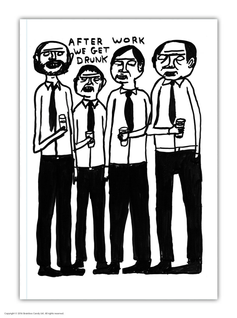 David Shrigley A5 Notepad Notebook Jotter Journal Funny Comedy Humour Joke Gift