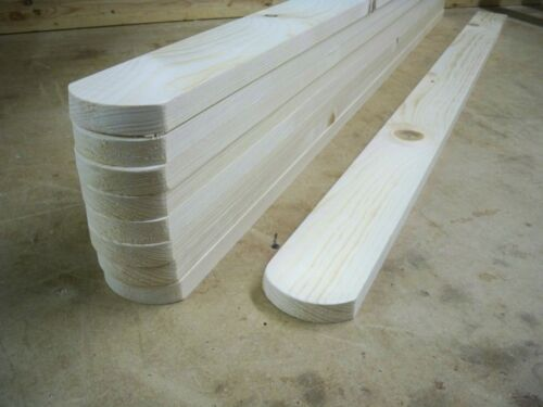 1200mm Wooden Picket Fence Pales 10 x Round Top /'PLANED SMOOTH/' 4ft