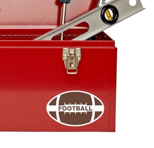 2 x Football Vinyl Sticker Decal iPad Laptop Car Helmet American USA Gift #4801