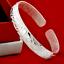 Fashion-Women-925-Silver-Plated-Jewelry-Elegant-Bangle-Cuff-Bracelet-Wristband thumbnail 2