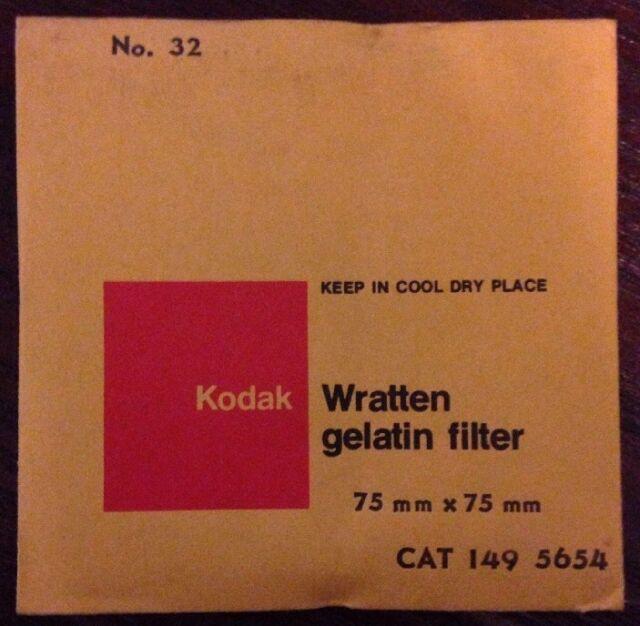 Kodak Wratten Gelatin Filter no. 32 75m x 75mm New Sealed
