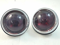 Hot Rod Rat Rod 1950 Pontiac Style Glass Lens Tail Lights Pair Rat Rod Gm Custom
