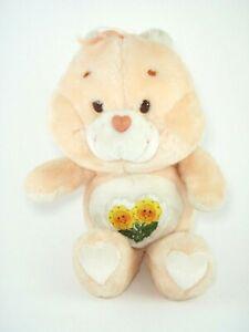 Vtg-1983-Kenner-Care-Bears-Friend-Bear-13-Plush-Doll-Stuffed-Animal-Sunflower