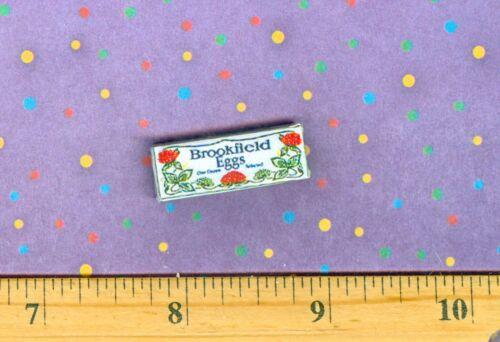 Dollhouse  MINIATURE Size Brookfeild Egg Carton Box