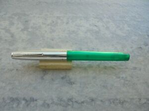 Fountain Pen (estilografica) Sheaffer Mod School Transparente Verde AÑos 70 Correspondant En Couleur