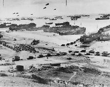 D-Day Normandy France Landing Craft Allied Troops 8x10 World War II WW2 Photo