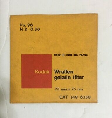 0.30 Gelatin 75mm ND Filter EX+ Kodak Wratten 96 N.D Condition